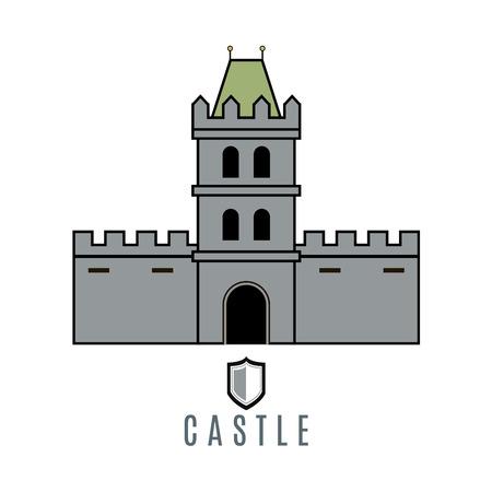 royal house: Castle icon. Flat style
