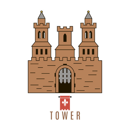 citadel: Castle icon. Flat style