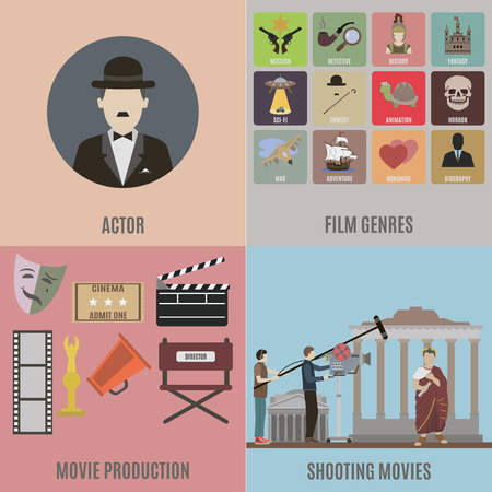 genres: Creating Movies and icons of different movie genres