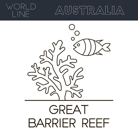 reef: Great Barrier Reef, Australia. Worlds largest coral reef system