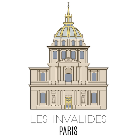invalides: Les Invalides, Paris, France. line style