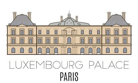 Het Paleis van Luxemburg, Parijs, Frankrijk. lijnstijl