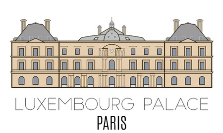 palace: Luxembourg Palace, Paris, France. line style
