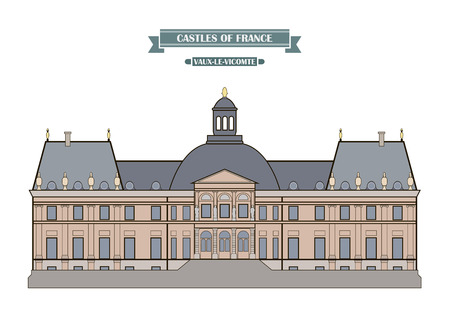 history architecture: Vaux-le-Vicomte, France. The medieval castle, a monument of architecture and history of France