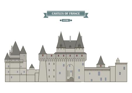 castello medievale: Vitré, Francia. Il castello medievale, un monumento di architettura e storia della Francia