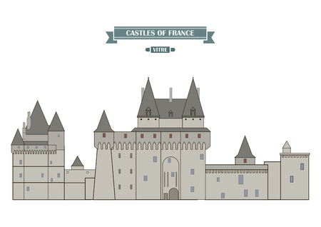 house illustration: Vitre, France. The medieval castle, a monument of architecture and history of France