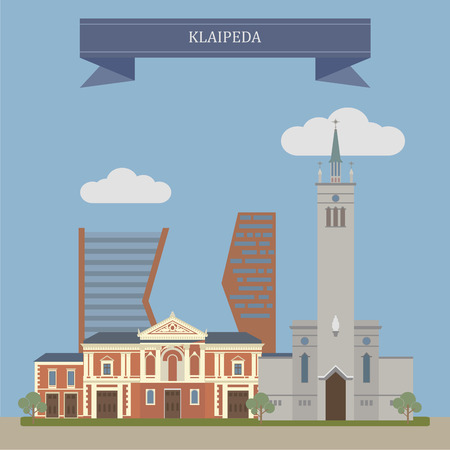 baltic sea: Klaipeda, city in Lithuania on the Baltic Sea coast