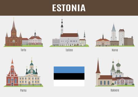 places: Famous Places of Estonian Cities.