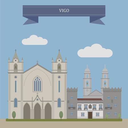 atlantic city: Vigo, city on the Atlantic Ocean in Spain