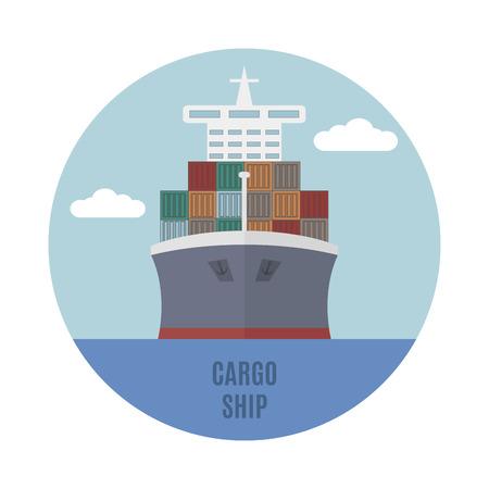 cargo transport: Large cargo ship, maritime transport company.