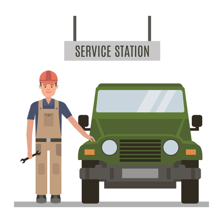 repaired: Mechanic and repaired the car at the service center