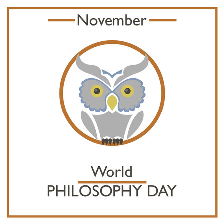 philosophy: World Philosophy Day. November. Vector illustration for you design, card, banner, poster and calendar Illustration