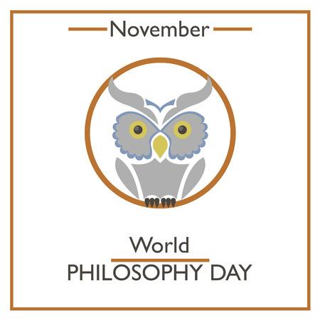 philosophy of logic: World Philosophy Day. November. Vector illustration for you design, card, banner, poster and calendar Illustration