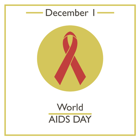 aids virus: AIDS Day. December 1. Vector illustration for you design, card, banner, poster and calendar