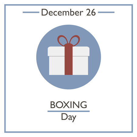 boxing day special: Boxing Day. December 26. Vector illustration for you design, card, banner, poster and calendar