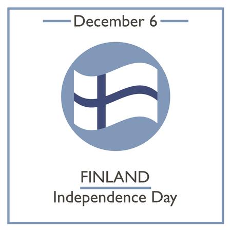 calendar day: Finland Indeopendence Day. December 6. Vector illustration for you design, card, banner, poster and calendar Illustration