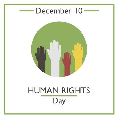 Dag van de mensenrechten. 10 december. Vectorillustratie voor u ontwerpen, kaart, banner, poster en kalender