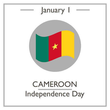 january 1: Cameroon Independence Day. January 1. Vector illustration for you design, card, banner, poster and calendar