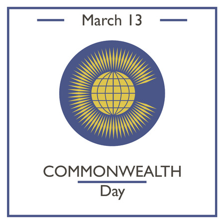 commonwealth: Commonwealth Day, March 13. Vector illustration for you design, card, banner, poster and calendar Illustration