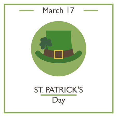 march 17: St. Patricks Day. March 17. Vector illustration for you design, card, banner, poster and calendar