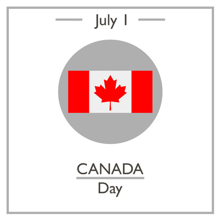 calendar day: Canada Day, July 1. Vector illustration for you design, card, banner, poster and calendar