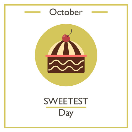 sweetest: Sweetest Day, October. Vector illustration for you design, card, banner, poster and calendar Illustration