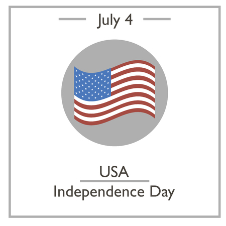 july 4: USA Independence Day, July 4. Vector illustration for you design, card, banner, poster and calendar
