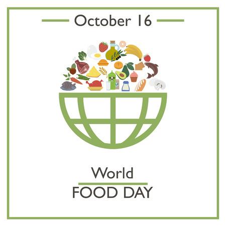 World Food Day, October 16. Vector illustration for you design, card, banner, poster and calendar