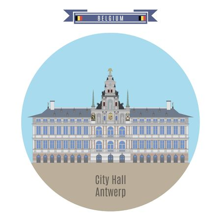 street symbols: Famous Places in Belgium: Stadhuis (City Hall) of Antwerp