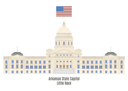 american cities: Arkansas State Capitol, Little Rock. House of government of the state of Arkansas