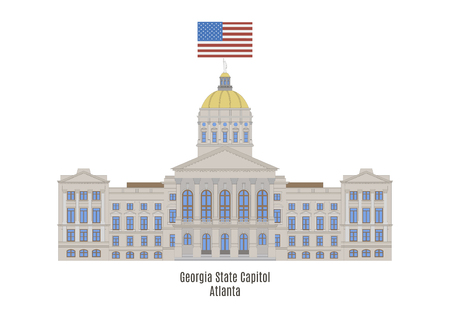 Georgia State Capitol, in Atlanta, Georgia, in the United States Illustration