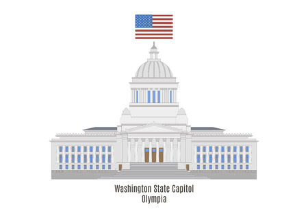 american cities: Washington State Capitol in Olympia, United States