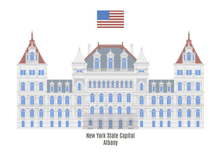 senate: New York State Capitol in Albany,United States of America