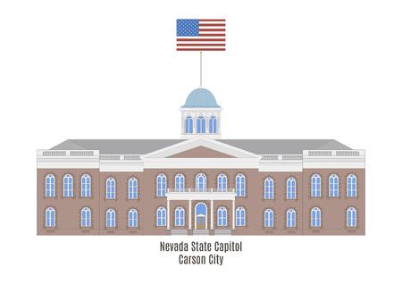 senate: Nevada State Capitol in Carson City, United States of America Illustration