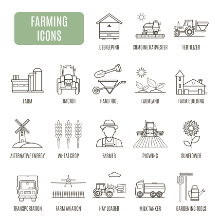 arable: Farming icons. Set of vector pictogram for web graphics