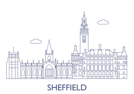 Sheffield, United Kingdom. The most famous buildings of the city