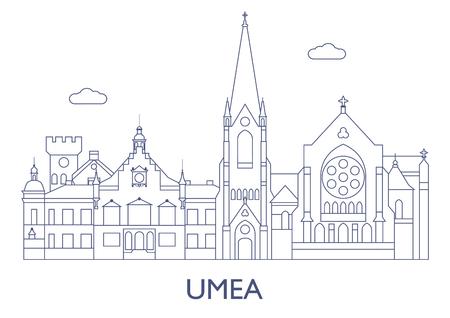 Umea, Schweden. Die berühmtesten Gebäude der Stadt Standard-Bild - 81799272