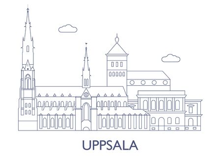 Uppsala, Sweden. The most famous buildings of the city