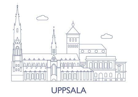 Uppsala, Schweden. Die berühmtesten Gebäude der Stadt Standard-Bild - 81799242