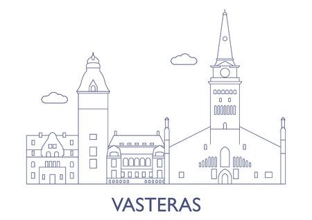 Vasteras, Schweden. Die berühmtesten Gebäude der Stadt Standard-Bild - 81799273