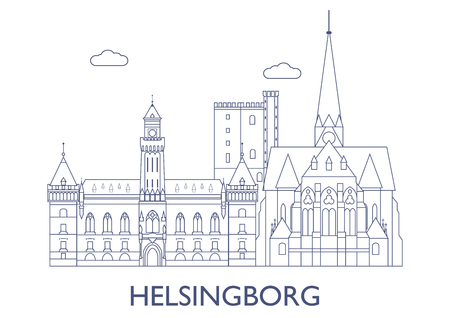 Helsingborg, Schweden. Die berühmtesten Gebäude der Stadt Standard-Bild - 81812871