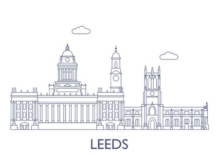 Leeds, United Kingdom. The most famous buildings of the city