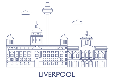 liverpool: Liverpool, United Kingdom. The most famous buildings of the city