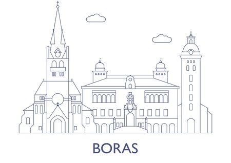 Boras, Schweden. Die berühmtesten Gebäude der Stadt Standard-Bild - 81800913