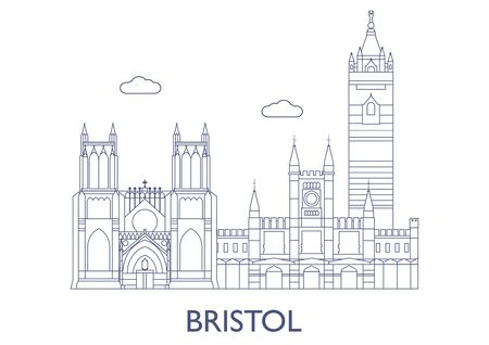 Bristol, United Kingdom. The most famous buildings of the city