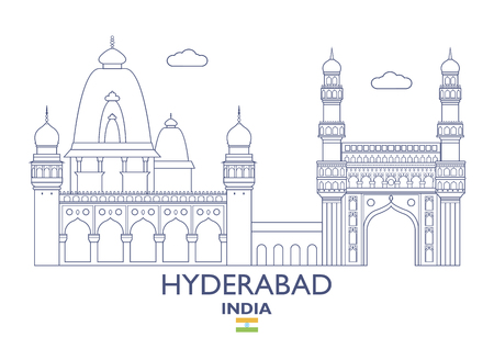 Hyderabad Linear City Skyline, India