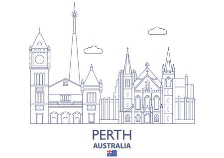 Perth Linear City Skyline, Australia