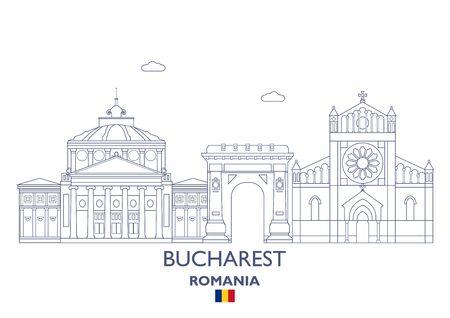 Bucharest Linear City Skyline, Romania