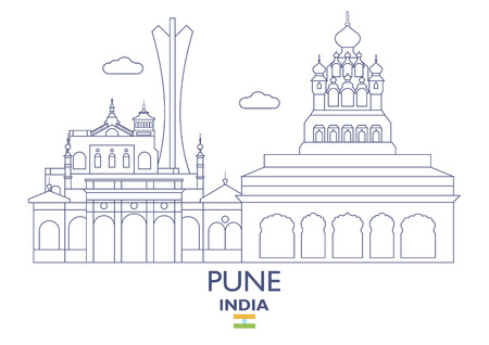 Pune Linear City Skyline, India