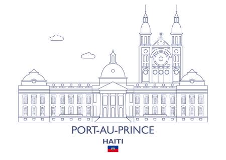 city building: Port-Au-Prince Linear City Skyline, Haiti